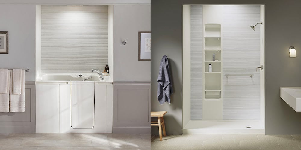 Blog: Walk In Tub Vs. Walk In Shower | KOHLER Blog