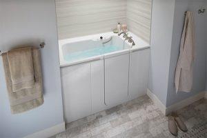 White walk in tub