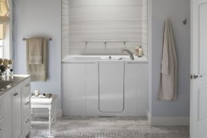 Kohler Walk-In Tub with grab bar