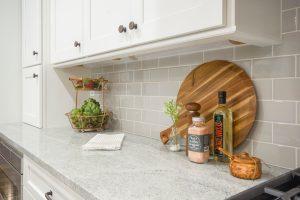 Organized kitchen counter.