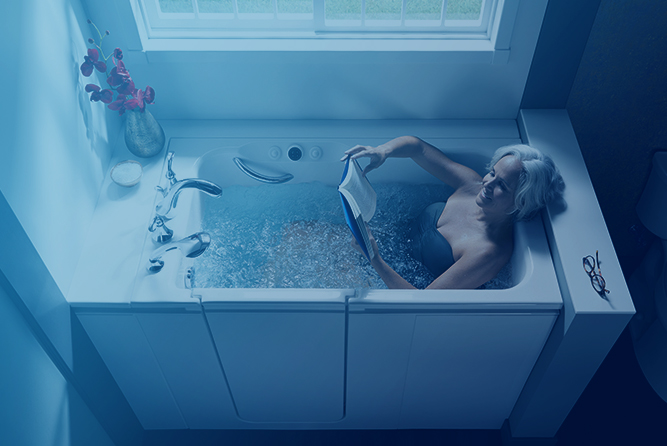 Blog Subscribe Image women reading in tub