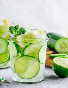 Cucumber limeade drink