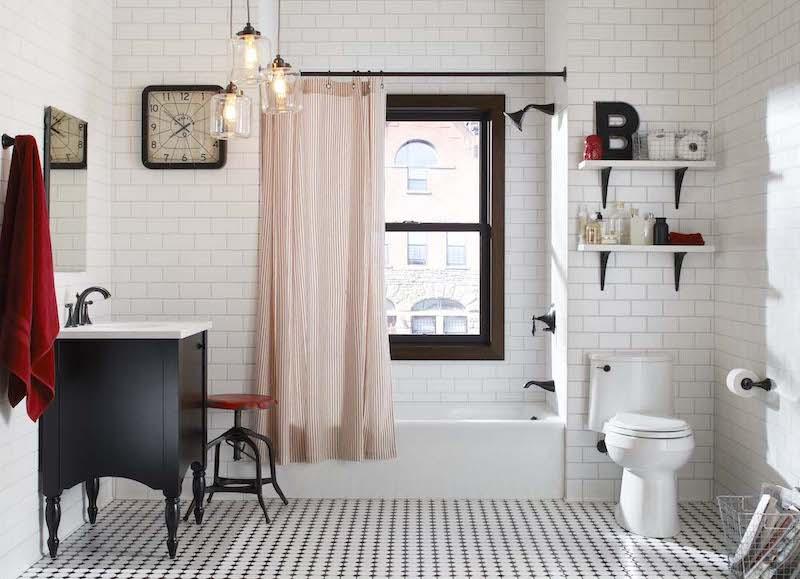 Brooklyn Style Bathroom with light shining through window