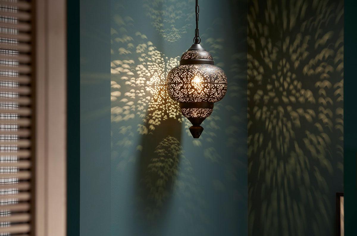 light fixture with light patterns