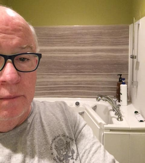 Customer Testimonials: Patrick\'s Story | KOHLER® Walk-In Bath