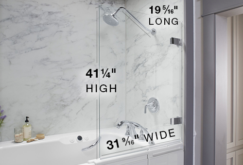 Shower Package Dimensions