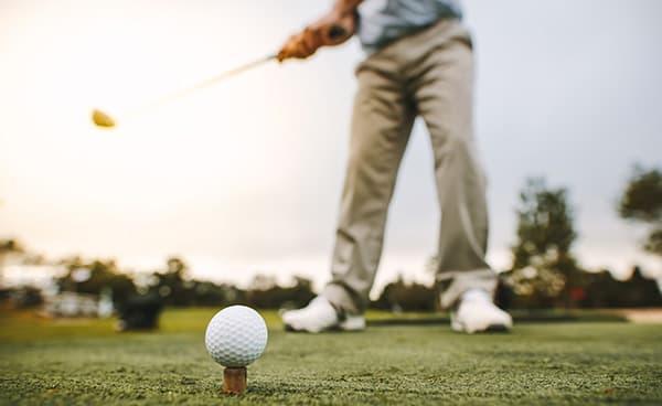 Photo of Golfer at National Senior Games
