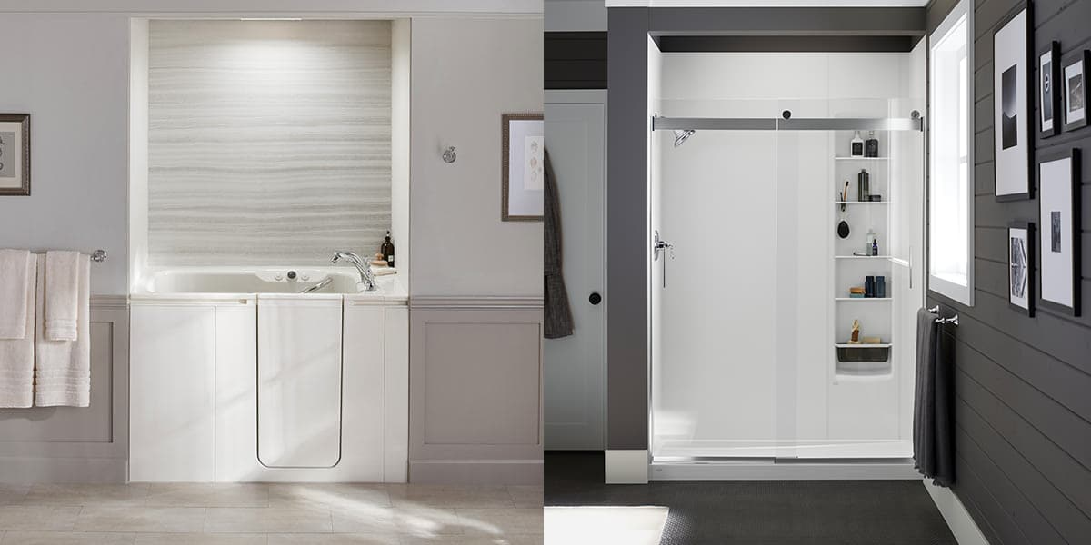 Luxstonetm Showers Safe Customizable Kohler Walk In Bath