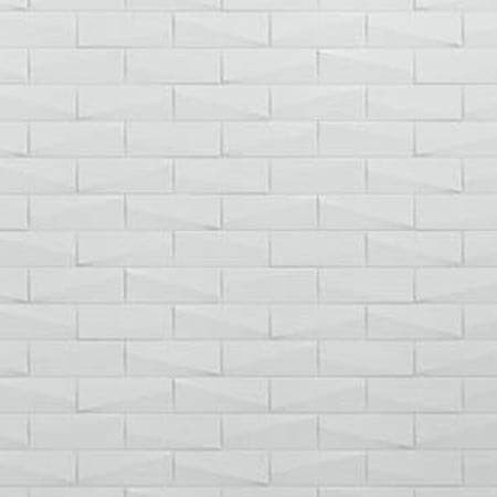 White Brick Shower Wall Swatch